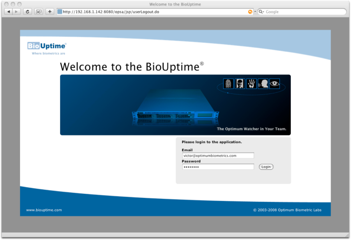 BioUptime features: Consolidated Web UI