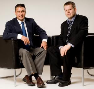 Babak Goudarzi Pour and Victor Adolfsson at Optimum Biometric Labs